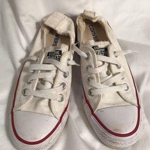 Women's White Converse Chuck Taylors - Size 8